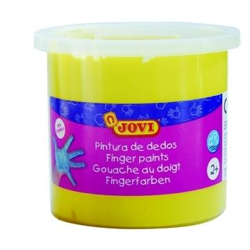 Estuche 5 botes pintura de dedos Jovi 125 ml color amarillo