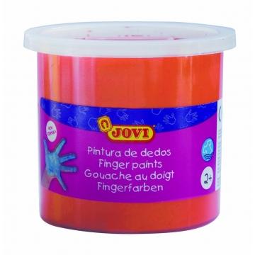 Estuche 5 botes pintura de dedos Jovi 125 ml color naranja
