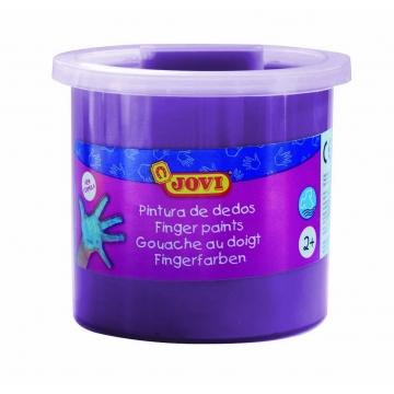 Estuche 5 botes pintura de dedos Jovi 125 ml color violeta