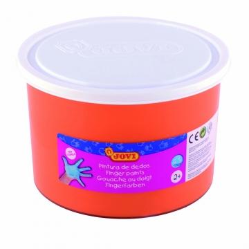 Bote pintura de dedos Jovi 500 ml color naranja
