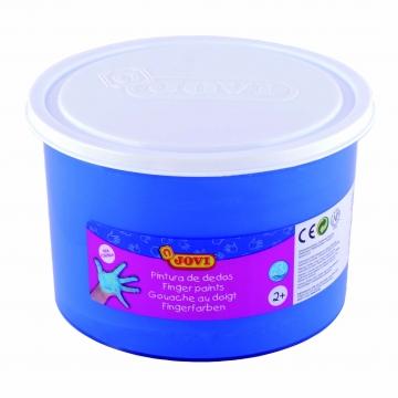 Bote pintura de dedos Jovi 500 ml color azul