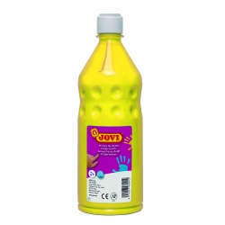 Botella pintura de dedos Jovi 750 ml color amarillo