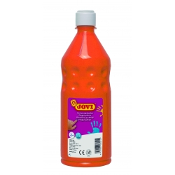 Botella pintura de dedos Jovi 750 ml color naranja