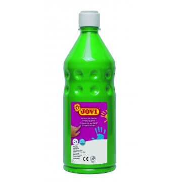 Botella pintura de dedos Jovi 750 ml color verde