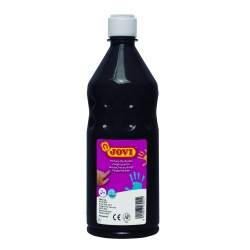 Botella pintura de dedos Jovi 750 ml color negro