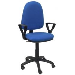 Silla de oficina contacto permanente Cervo con brazos 6472B azul
