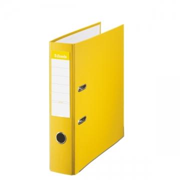 Archivador de palanca de PP de plástico forrado de Esselte Folio 75 mm Amarillo