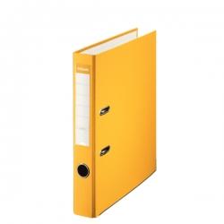 Archivador de palanca de PP de plástico forrado de Esselte Folio 50 mm Amarillo