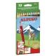 12 Lápices de colores Alpino largos