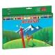 30 Lápices de colores Alpino largos con sacapuntas