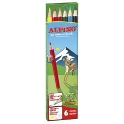 6 Lápices de colores Alpino largos