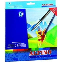 24 Lápices acuarelables Aqualine Alpino