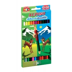 12 Lápices de colores Alpino Double