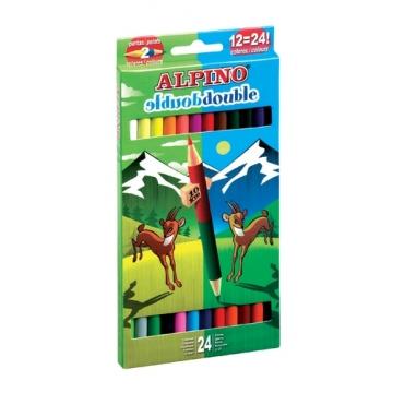 12 Lápices de colores Alpino Double