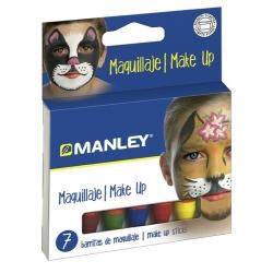 7 Barritas maquillaje Manley colores surtidos