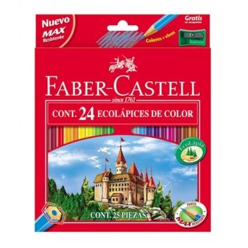 Lápices de colores Faber Castell estuche de 24 lápices