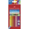 Lápices acuarelables Faber Castell colour grip estuche de 24 ecolápices