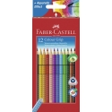 Lápices acuarelables Faber Castell colour grip estuche de 12 ecolápices