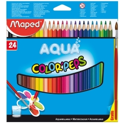 Lápices acuarelables Maped Color Peps estuche de 24