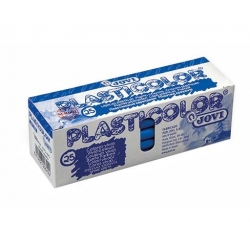 Lapices cera Plasticolor estuche 25 ceras plásticas color plata