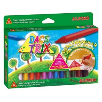 12 Ceras Dacs trix  colores surtidos