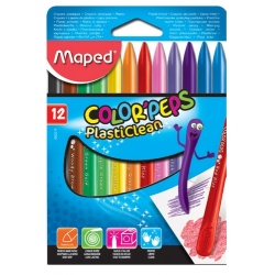 Ceras Maped Plasticlean Color Peps estuche de 12