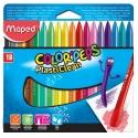 Ceras Maped Plasticlean Color Peps estuche de 18