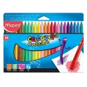 Ceras Maped Plasticlean Color Peps estuche de 24