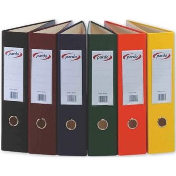 Archivador de palanca Pardo forrado PVC 70mm PVC folio negro