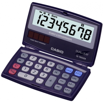 Calculadora de bolsillo Casio 8 digitos SL 100 VER