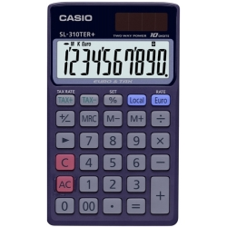 Calculadora de bolsillo Casio 10 digitos SL 310 TER