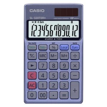 Calculadora de bolsillo Casio 12 digitos SL 320 TER
