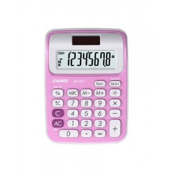 Calculadora sobremesa Casio 8 digitos MS 6NC rosa
