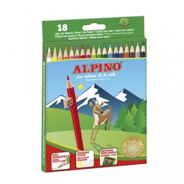 18 Lápices de colores Alpino largos