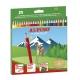 24 Lápices de colores Alpino largos