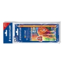 10 Lápices de colores Staedtler 128 Noris Club Triplus Jumbo