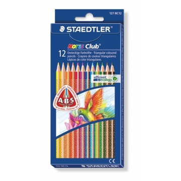 12 Lápices de colores Staedtler 127 Noris Club Triplus Slim