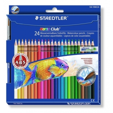 24 Lápices acuarelables Staedtler 144 10 Noris Club Aquarell