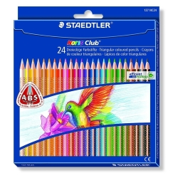 24 Lápices de colores Staedtler 127 Noris Club Triplus Slim