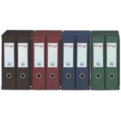 Módulo archivadores Pardo 2 unidades forrado PVC folio rojo