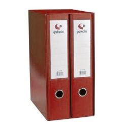 Módulo archivadores palanca Grafcolor 2 uds folio 75mm rojo